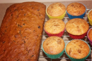 Date Loaf n pear and apple muffins